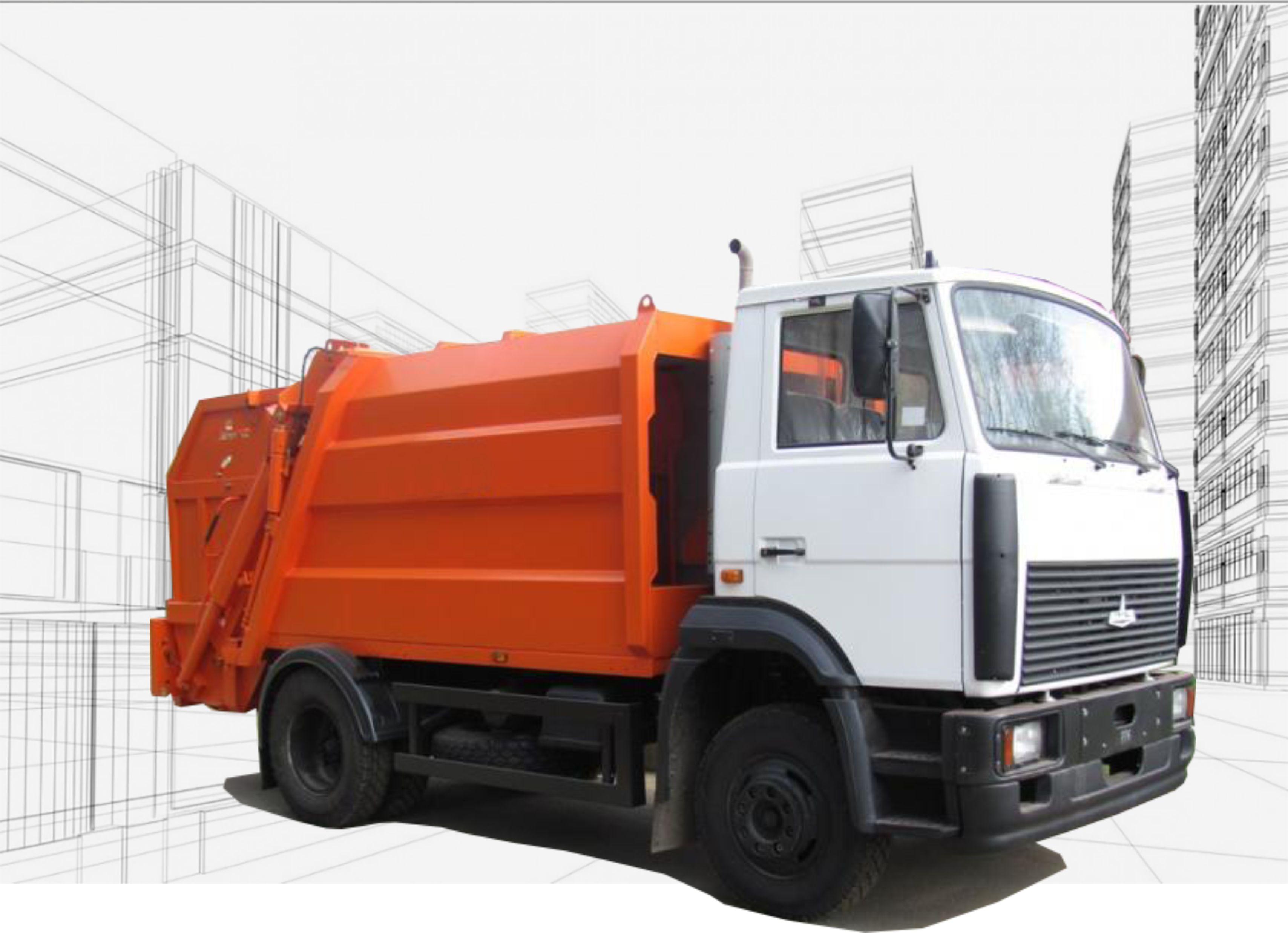 Мусоровозы МАЗ-4901P2-320 с задней загрузкой