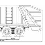 Мусоровозы МАЗ-6903B3-310 с задней загрузкой габариты