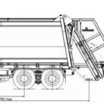 Мусоровозы МАЗ-6904B3-310 с задней загрузкой габариты